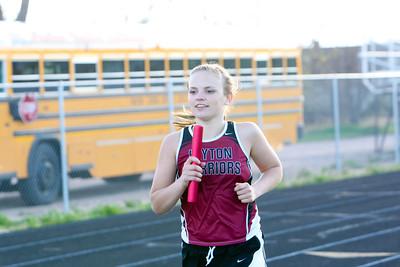 Leyton's Megan Flessner 4 x 800 relay