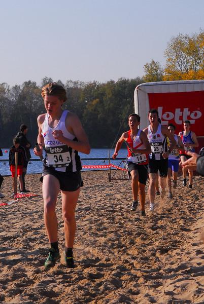 Yngwie Vanhoucke @ Cross Cup Relays Gent 2011 op weg naar de 8ste beste tijd op de 1.500 M