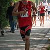 Stijn Vermeulen (DAPALO) uit Zonnebeke in zijn eerste ronde op de 14 Km