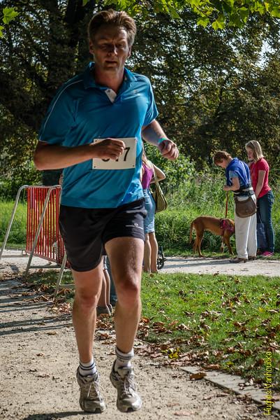 Peter Deleu uit Wielsbeke op de 7 Km.