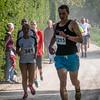 Glenn Valentin, de voorlopige leider op de 14 Km na goed 5 Km