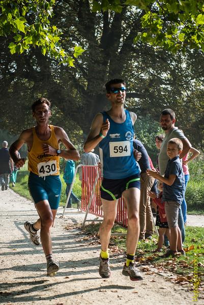 Wim De Waele (# 430) uit Kruishoutem & Peter Verhelst (# 594) uit Beernem op de 7 Km
