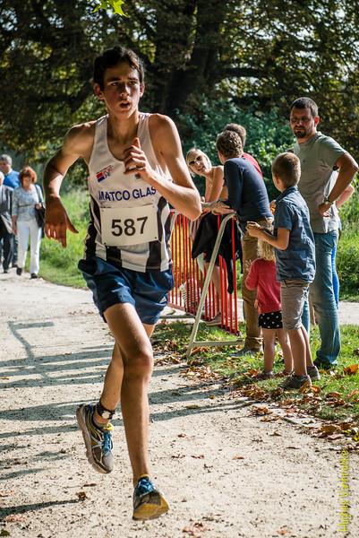 Thomas Vandamme uit Kemmel op de 7 Km.