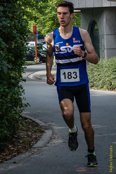 Thomas Dekeyser van AVR, winnaar op de 5 Km (211 atleten)