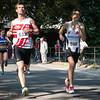 Timothy Desramault (# 632) uit Marke & Xander Ameys (# 598) uit Poperinge op de 7 Km