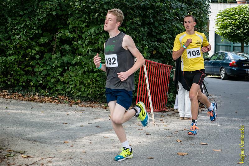 Jonathan Goudeseune (# 182) uit Ieper werd tweede op de 5 Km, Thomas De Coninck (# 108) uit Meigem eindigde als vierde.