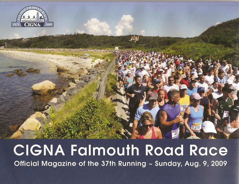 Cover of Falmouth Road Race Magazine
