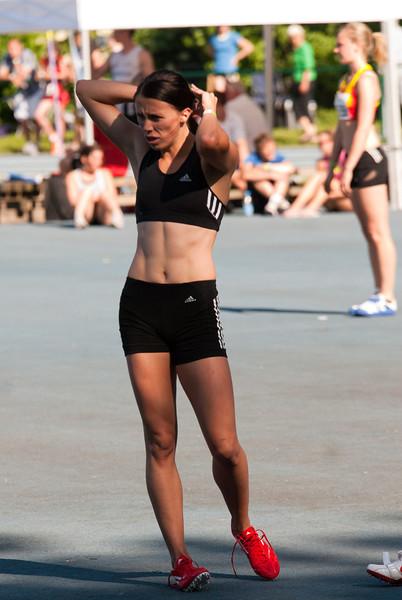 Eva Kaptur uit Hongarije na haar sterke 200 M - Grote Prijs Stad Lokeren - Oost-Vlaanderen - België