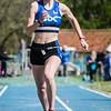 Sara Stevens (AVR) met een sprong van 8,49 M bij de meisjes cadetten @ Provinciaal Kampioenschap Outdoor Atletiek - SC De Lenspolder - Nieuwpoort