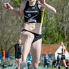 Maité Beernaert (Houtland AC) wint het hinkstapspringen bij de meisjes cadetten met een sprong van 10,78 M @ Provinciaal Kampioenschap Outdoor Atletiek -SC De Lensdpolder - Nieuwpoort