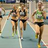 Sofie Lauwers (RAM) wordt Vlaams kampioene voor Yentl Vandenberghe (AV Lokeren), Hanne van Loock (DCLA) en Jessie Raes (Houtland AC) op de 800 M Dames @ Kampioenschap van Vlaanderen - BLOSO Topsporthal - Gent