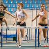 Chloë Beaucarne uiterst rechts (60 M horden - Reeksen) @ Kampioenschap van Vlaanderen - BLOSO Topsporthal - Gent