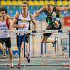 Kristof Plovie (AC Deinze), Niels Pittomvils (Looise AV) & Dario de Borger (Vilvoorde AC) - Finale 60 M Horden @ Kampioenschap van Vlaanderen - BLOSO Topsporthal - Gent