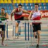 Denis Hanjoul gaat Sander Maes & Hans Van Alphen voor (60 M horden - Reeksen) @ Kampioenschap van Vlaanderen - BLOSO Topsporthal - Gent