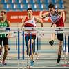 Denis Hanjoul op kop (60 M horden - Reeksen) @ Kampioenschap van Vlaanderen - BLOSO Topsporthal - Gent