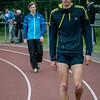 Yngwie Vanhoucke (FLAC Ieper) & Jeroen Braekevelt (AC Meetjesland) maken zich klaar voor de  800 M