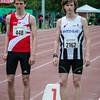 Yngwie Vanhoucke (FLAC Ieper) & Guillaume Rademakers (DCLA) klaar voor de 800 M