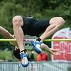 Mathias Sanctorum in het hoogspringen