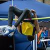Winnaar van het hoogspringen: Lois Makena van CS Dyle