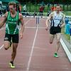Jan Carly (Flac Hoppeland) & Thijs Ulens (Vilvoorde AC) op de 400 M Horden