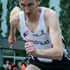 Jan Carly (Flac Hoppeland) op de 400 M Horden
