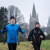 Ieperlingen & FLAC-ers Jonathan Goudeseune & Jeroen Deruddere tijdens hun opwarming - 50ste Grote Prijs Stad Ieper/Memorial Belinde Verstraete