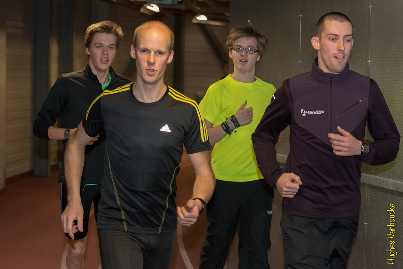 Vlnr: Alexander Lesire, Jeroen Vandewalle (beiden AVR), Yngwie Vanhoucke (FLAC Ieper) & Hans Omey (AVR)
