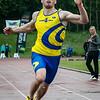 Kampioen 100 M Heren: Yannick Meyer (AC Waasland) - Kampioenschap van Vlaanderen - Beveren-Waas - Oost-Vlaanderen