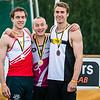 Podium 110 M Horden met vlnr Denis Hanjoul (DCLA), Dario De Borger (Belgisch Leger/ROBA) & Niels Pittomvils (Topsport Vlaanderen/Looise AV) - Kampioenschap van Vlaanderen - Beveren-Waas - Oost-Vlaanderen