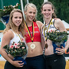 Podium van het Vlaams Kampioenschap 110 M Horden: Chloë Beaucarne, Dorien Van Diest & Shari Lammens - Beveren-Waas - Oost-Vlaanderen