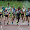Duwen en trekken tijdens de start van de 1.500 M - Kampioenschap van Vlaanderen - Beveren-Waas - Oost-Vlaanderen