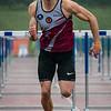 Finale 110 M Horden: Dario De Borger (Belgisch Leger/ROBA) - Kampioenschap van Vlaanderen - Beveren-Waas - Oost-Vlaanderen