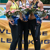 Podium 100 M Dames: Elke Vereecken (Volharding), Sarah Rutjens (RC Gent) & Orphée Depuydt - Kampioenschap van Vlaanderen - Beveren-Waas - Oost-Vlaanderen