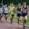 Posities bijna halfweg op de 1.500 M met op kop Wesley De Kerpel (ROBA) voor Pieter Claus (Eendracht Aalst) & Stijn Baeten (Bonheiden) - Kampioenschap van Vlaanderen - Beveren-Waas - Oost-Vlaanderen