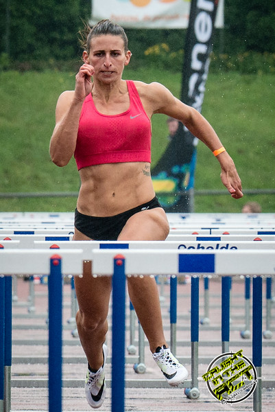 Agustina Zerboni (Argentinië) - Finale 100 M Horden dames - Kampioenschap van Vlaanderen 2015 - Beveren-Waas - Oost-Vlaanderen