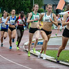 De atletes achter koploopster Sofie Van Accom op de 1.500 M met in tweede positie Renée Eykens - Kampioenschap van Vlaanderen - Beveren-Waas - Oost-Vlaanderen