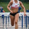 Choë Beaucarne (AC Deinze) - Finale 100 M Horden dames - Kampioenschap van Vlaanderen 2015 - Beveren-Waas - Oost-Vlaanderen
