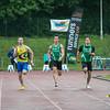 Finale 100 M Heren met vlnr Lars Herreman (Kortrijk Sport), Yannick Meyer (AC Waasland), Wout Verhoeven (Vilvoorde AC), Cédric Nolf (Vilvoorde AC) & Marvin Nicque (AC Waasland) - Kampioenschap van Vlaanderen - Beveren-Waas - Oost-Vlaanderen