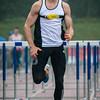 Finale 110 M Horden: brons voor Niels Pittomvils (Topsport Vlaanderen/Looise AV) - Kampioenschap van Vlaanderen - Beveren-Waas - Oost-Vlaanderen
