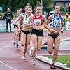 Posities na dik 3/4 ronde op de 1.500 M met Sofie Van Accom (# 1369) op kop voor Vanessa Scaunet (# 452) & Renée Eykens - Kampioenschap van Vlaanderen - Beveren-Waas - Oost-Vlaanderen
