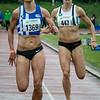 De strijd voor het goud tussen de Antwerpse atletes Sofie Van Accom (AC Herentals) & Renée Eykens (Kapellen) op de 1.500 M - Kampioenschap van Vlaanderen - Beveren-Waas - Oost-Vlaanderen