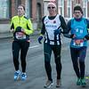Laetilia Rosseel uit Vlamertinge, een mij onbekende FLAC atleet en Roland Vaneste uit Westrozebeke - Kerstcorrida - Langemark - West-Vlaanderen