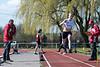 Ine Mylle op het hinkstapspringen<br /> Memorial Guy Dorchain - Wembley sportcomplex - Heule/Kortrijk<br /> Zaterdag 20 april 2013