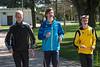 Opwarmen voor de 1.000 M (vlnr Jeroen Vandewalle, Yngwie Vanhoucke & Feinse Quatacker)<br /> Memorial Guy Dorchain - Wembley sportcomplex - Heule/Kortrijk<br /> Zaterdag 20 april 2013