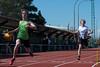 Aankomst van Nikola Invernizzi & Ken Neyt op de 100 M JSM<br /> Memorial Guy Dorchain - Wembley sportcomplex - Heule/Kortrijk<br /> Zaterdag 20 april 2013