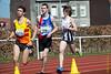 Lieven Vandeweghe, Hannes Bollaert & Yngwie Vanhoucke na 450 M<br /> Memorial Guy Dorchain - Wembley sportcomplex - Heule/Kortrijk<br /> Zaterdag 20 april 2013