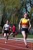 Sien Demasure (FLAC Ieper) op de 100 M dames<br /> Memorial Guy Dorchain - Wembley sportcomplex - Heule/Kortrijk<br /> Zaterdag 20 april 2013