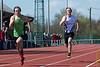 Nikola Invernizzi & Ken Neyt op de 100 M JSM<br /> Memorial Guy Dorchain - Wembley sportcomplex - Heule/Kortrijk<br /> Zaterdag 20 april 2013