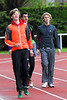 Ontstressen vóór de start (FLAC atleten) - Sportcomplex Wembley - Kortrijk - België