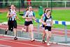 Flac dames Vanpoucke Ella & Bruynooghe Emilie tijdens 1.000 M Scholieren Dames - Sportcomplex Wembley - Kortrijk - België